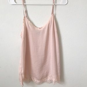2 for $9 AERIE LACE TRIMMED CAMISOLE TOPS